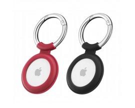Set 2 x Husa Esr Cloud  Compatibila Apple Airtag, Rosu si Negru