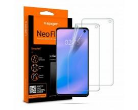 Folie Silicon  Premium Neo Flex Spigen Pentru Samsung Galaxy S10e Transparenta Case Friendly 2 Bucati In Pachet