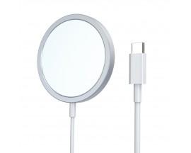 Incarcator Premium Magsafe Yesido 15w, Pentru Noile iPhone 12 / 12 Pro / 12 Pro Max, Putere 15w, Alb