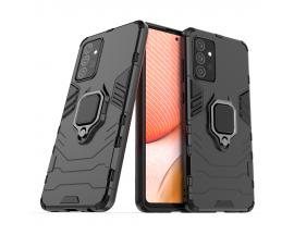 Husa Spate Upzz Ring Kickstand Pentru Samsung Galaxy A72 / A72 5g , Negru - 25403