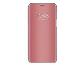 Husa Tip Carte S View Mirror Compatibila Cu Xiaomi Redmi Note 9T 5G, Roz