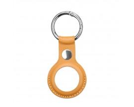Husa Upz Leather Key Compatibila Apple Airtag, Piele Maro