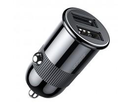 Incarcator Auto Joyroom Fast Charger 2 x Usb, 3.1A, Negru