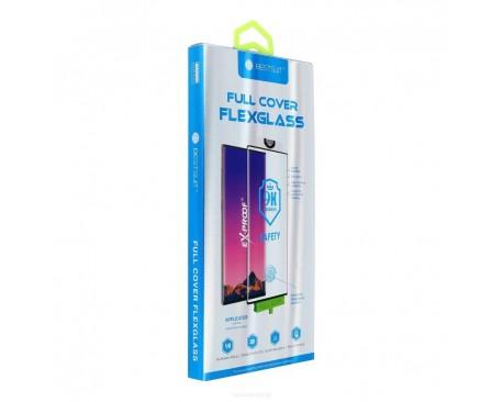 Folie Full Cover Nano Glass Flexible Bestsuit Compatibila Cu Huawei P30 Lite  ,Transparenta Cu Margine Neagra - Merge Amprenta