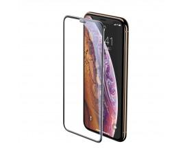 Folie Sticla Securizata Premium 5d Baseus Compatibila Cu iPhone Xr Full Cover ,full Glue-2 Bucati In Pachet
