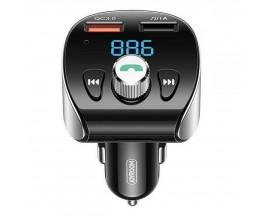 Incarcator Auto Joyroom Cu Modulator Fm, Bluetooth 5.0, 2 X Usb, 3 A, 18w, Negru - JR-CL02