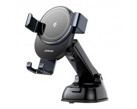 Suport Auto Joyroom Wireless Pentru Bord Quick Charge 15W, Gravity, Gri - JR-ZS212