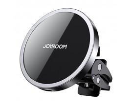 Suport Auto Joyroom Wireless MagSafe Compatibil Cu Gama iPhone 12, Montaj Ventilatie, Negru JR-ZS240