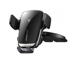 Suport Auto Joyroom Wireless Automatic Electric Fast Charger 15W Pentru Cd Player , Negru JR-ZS248