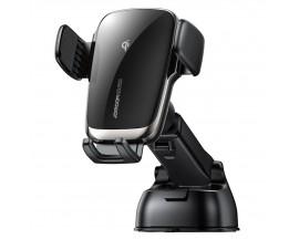 Suport Auto Joyroom Wireless Automatic Electric Fast Charger 15W Pentru Bord, Negru JR-ZS248
