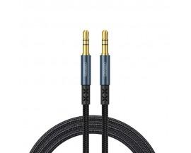 Cablu Audio Aux Jack La Jack 3.5mm Joyroom Albastru Textil, Lungime 1.5M SY-15A1