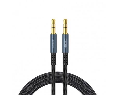 Cablu Audio Aux Jack La Jack 3.5mm Joyroom Albastru Textil, Lungime 2M SY-20A1