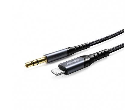 Cablu Audio Joyroom Jack 3.5mm La Lightning Compatibil cu Device-uri Apple, Negru 1m  SY-A02