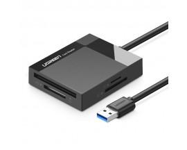 Card Reader Ugreen Usb 3.0 Pentru MicroSD, CF, MS, Negru 30231