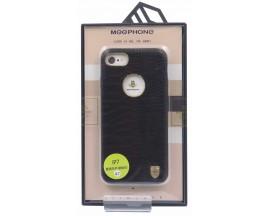 Husa Meephone Piele Croco iPhone 7 Gold Negru