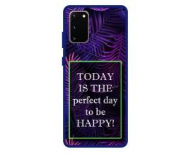 Husa Premium Spate Upzz Pro Anti Shock Compatibila Cu Samsung Galaxy S20, Model Perfect Day, Rama Albastra