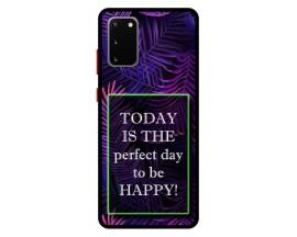 Husa Premium Spate Upzz Pro Anti Shock Compatibila Cu Samsung Galaxy S20, Model Perfect Day, Rama Neagra