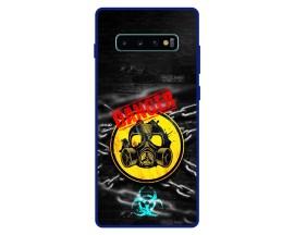Husa Premium Spate Upzz Pro Anti Shock Compatibila Cu Samsung Galaxy S10+ Plus, Model Toxic, Rama Albastra