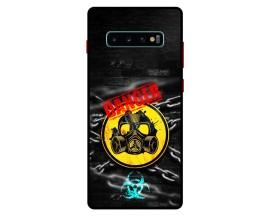 Husa Premium Spate Upzz Pro Anti Shock Compatibila Cu Samsung Galaxy S10+ Plus, Model Toxic, Rama Neagra