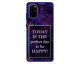Husa Premium Spate Upzz Pro Anti Shock Compatibila Cu Samsung Galaxy S20+ Plus, Model Perfect Day, Rama Albastra