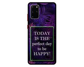 Husa Premium Spate Upzz Pro Anti Shock Compatibila Cu Samsung Galaxy S20+ Plus, Model Perfect Day, Rama Neagra