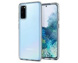 Husa Premium Spigen Crystal Flex Compatibila Cu Samsung Galaxy S20, Silicon, Transparent