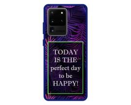 Husa Premium Spate Upzz Pro Anti Shock Compatibila Cu Samsung Galaxy S20 Ultra, Model Perfect Day, Rama Albastra