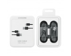 Cablu de date Samsung, 2 x Cable USB Type C, 1.5m, Black, Blister
