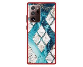 Husa Premium Spate Upzz Pro Anti Shock Compatibila Cu Samsung Galaxy Note 20 Ultra, Model Marble 1, Rama Rosie