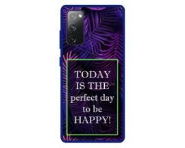 Husa Premium Spate Upzz Pro Anti Shock Compatibila Cu Samsung Galaxy S20 FE, Model Perfect Day, Rama Albastra