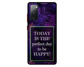 Husa Premium Spate Upzz Pro Anti Shock Compatibila Cu Samsung Galaxy S20 FE, Model Perfect Day, Rama Neagra
