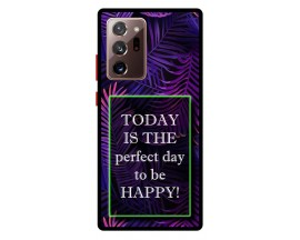 Husa Premium Spate Upzz Pro Anti Shock Compatibila Cu Samsung Galaxy Note 20 Ultra, Model Perfect Day, Rama Albastra
