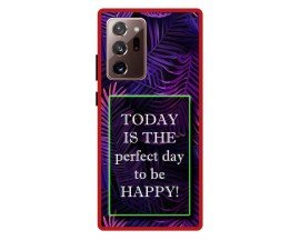 Husa Premium Spate Upzz Pro Anti Shock Compatibila Cu Samsung Galaxy Note 20 Ultra, Model Perfect Day, Rama Neagra