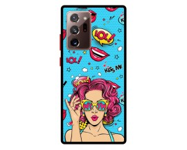 Husa Premium Spate Upzz Pro Anti Shock Compatibila Cu Samsung Galaxy Note 20 Ultra, Model Good Stories, Rama Rosie