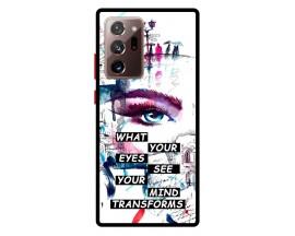 Husa Premium Spate Upzz Pro Anti Shock Compatibila Cu Samsung Galaxy Note 20 Ultra, Model Your Eyes, Rama Neagra