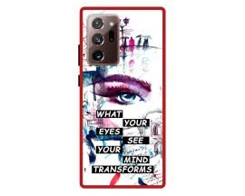 Husa Premium Spate Upzz Pro Anti Shock Compatibila Cu Samsung Galaxy Note 20 Ultra, Model Your Eyes, Rama Rosie