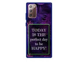 Husa Premium Spate Upzz Pro Anti Shock Compatibila Cu Samsung Galaxy Note 20, Model Perfect Day, Rama Albastra