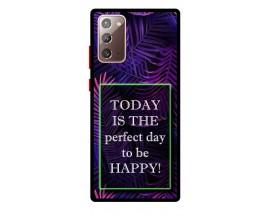 Husa Premium Spate Upzz Pro Anti Shock Compatibila Cu Samsung Galaxy Note 20, Model Perfect Day, Rama Neagra