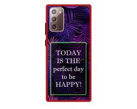 Husa Premium Spate Upzz Pro Anti Shock Compatibila Cu Samsung Galaxy Note 20, Model Perfect Day, Rama Rosie