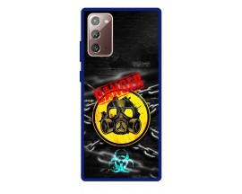Husa Premium Spate Upzz Pro Anti Shock Compatibila Cu Samsung Galaxy Note 20, Model Toxic, Rama Albastra