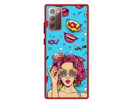 Husa Premium Spate Upzz Pro Anti Shock Compatibila Cu Samsung Galaxy Note 20, Model Wow, Rama Rosie