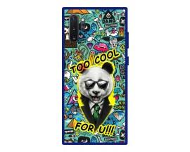 Husa Premium Spate Upzz Pro Anti Shock Compatibila Cu Samsung Galaxy Note 10+ Plus, Model Panda, Rama Albastra