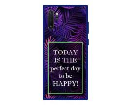 Husa Premium Spate Upzz Pro Anti Shock Compatibila Cu Samsung Galaxy Note 10+ Plus, Model Perfect Day, Rama Albastra