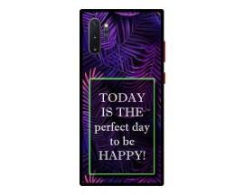 Husa Premium Spate Upzz Pro Anti Shock Compatibila Cu Samsung Galaxy Note 10+ Plus, Model Perfect Day, Rama Neagra