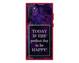 Husa Premium Spate Upzz Pro Anti Shock Compatibila Cu Samsung Galaxy Note 10+ Plus, Model Perfect Day, Rama Rosie