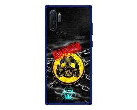 Husa Premium Spate Upzz Pro Anti Shock Compatibila Cu Samsung Galaxy Note 10+ Plus, Model Toxic, Rama Albastra