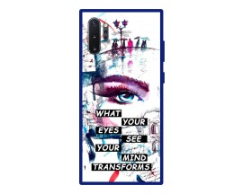 Husa Premium Spate Upzz Pro Anti Shock Compatibila Cu Samsung Galaxy Note 10+ Plus, Model Your Eyes, Rama Albastra
