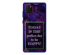 Husa Premium Spate Upzz Pro Anti Shock Compatibila Cu Samsung Galaxy Note 10 Lite, Model Perfect Day, Rama Albastra