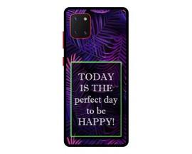 Husa Premium Spate Upzz Pro Anti Shock Compatibila Cu Samsung Galaxy Note 10 Lite, Model Perfect Day, Rama Neagra