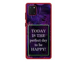 Husa Premium Spate Upzz Pro Anti Shock Compatibila Cu Samsung Galaxy Note 10 Lite, Model Perfect Day, Rama Rosie
